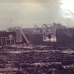 Whilst building first bungalow 1978, the family lived on site in a caravan. Health and safety was a bit different then.