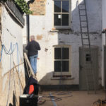 Lime pointing on rear building Bridge Street