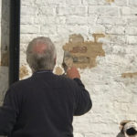 Lime pointing on rear of building Bridge Street
