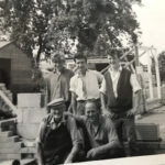 Dick on site 1960's, he is on the right.
